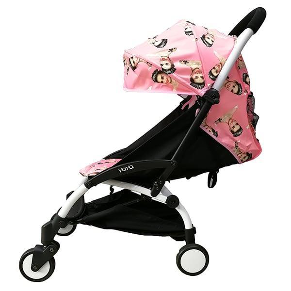 Детская коляска YOYA 175A+ PINK BELLE черная рама