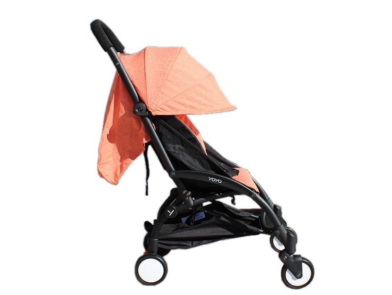Детская коляска YOYA 175A+ Оранжевый лен черная рама