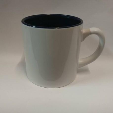 Чашка для сублимации цветная внутри 150 мл (черный)