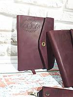 Обложка для блокнота (ежедневника) кожаная ручной работы от SSI Leather