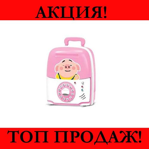 Детская копилка сейф Свинка- Новинка