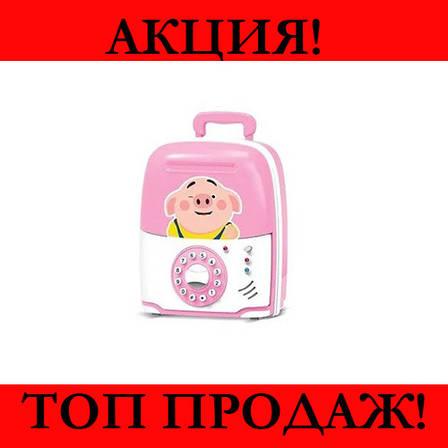 Детская копилка сейф Свинка- Новинка, фото 2