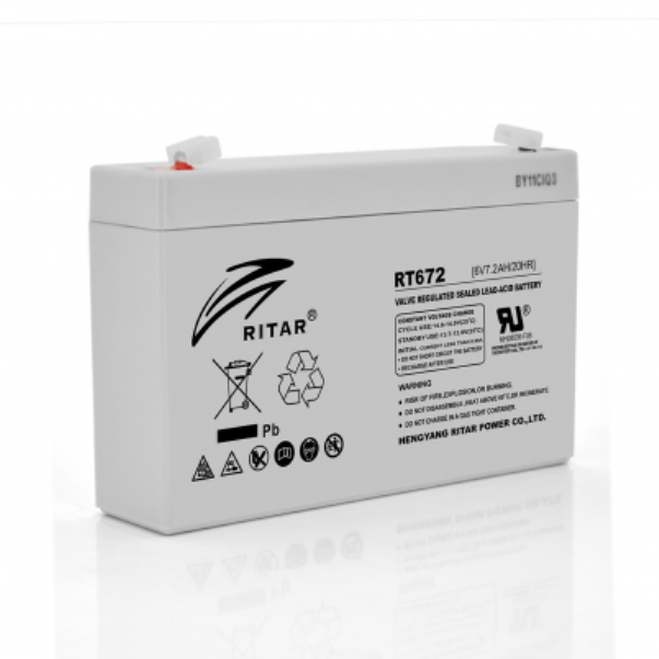 Аккумуляторная батарея AGM Ritar RT672 6V 7.2Ah