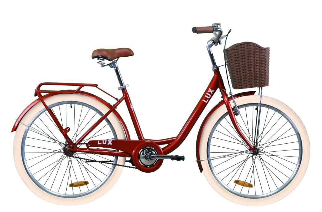 """Велосипед городской женский 26"""" Dorozhnik Lux 2020 стальная рама 17"""" рубиновый"""