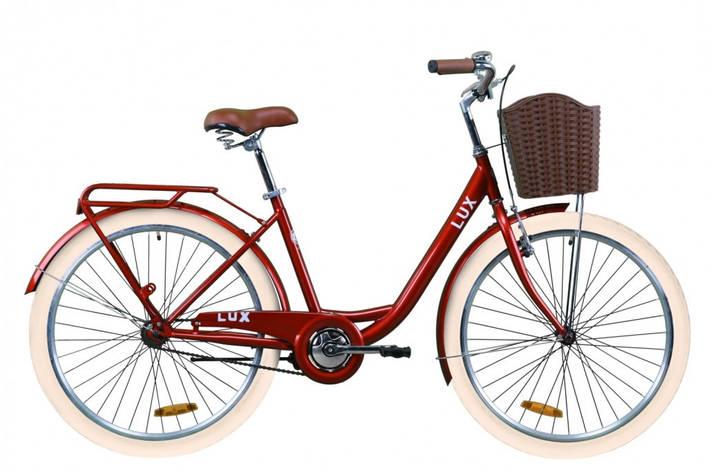 """Велосипед міський жіночий 26"""" Dorozhnik Lux 2020 сталева рама 17"""" рубіновий, фото 2"""