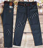 Яркие штаны,джинсы для мальчика 8-12 лет(темно серые) опт пр.Турция