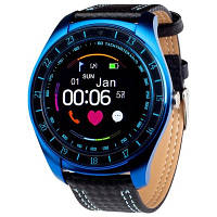 Смарт-часы V10 Original Smart Watch Blue UWatch пульсометр