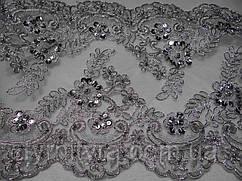 Кружево свадебное 23см серебро