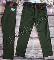 Яркие штаны,джинсы для мальчика 8-12 лет(хаки) опт пр.Турция