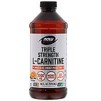Л-Карнитин жидкий (L-Сarnitine) цитрусовый 3000 мг 473 мл жидкости