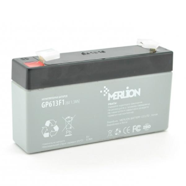 Аккумуляторная батарея Merlion AGM GP613F1 6V 1.3Ah
