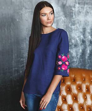 Яскрава блузка-вишиванка жіноча (розміри XS-3XL в кольорах)