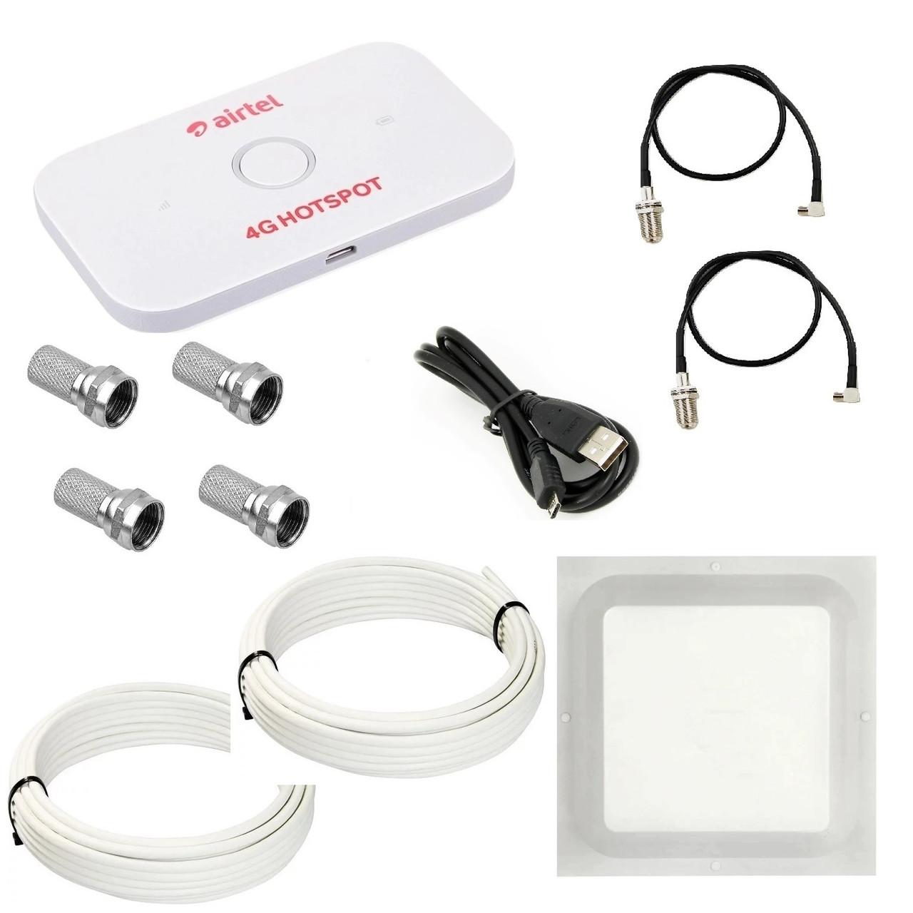 Комплект WiFi роутер 3G/4G Huawei E5573Cs-609 с антенной MIMO 2x17 дБи