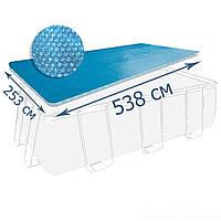 Теплосберегающее покрытие (солярная пленка) для бассейна Intex 29026, 538 х 253 см (для бассейнов 549 х 274 см)