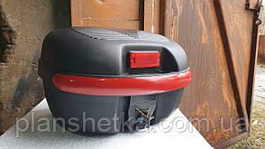 Кофр для мотоцикла багажник черный матовый 26 л на 1 шлем HF-853