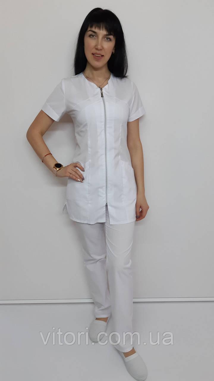 Женский медицинский костюм Корра короткий рукав рубашечная ткань
