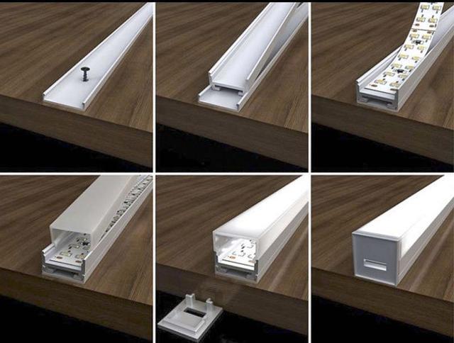 светильник LED профиль мебельный