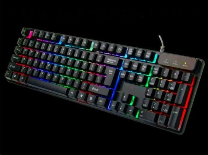 Клавиатура компьютерная проводная KEYBOARD HK-6300 C подсветкой