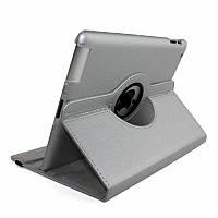 Кожаный чехол книжка для iPad Air / Air 2 / 2017 / 2018 (9.7 дюймов) серебристый (silver)