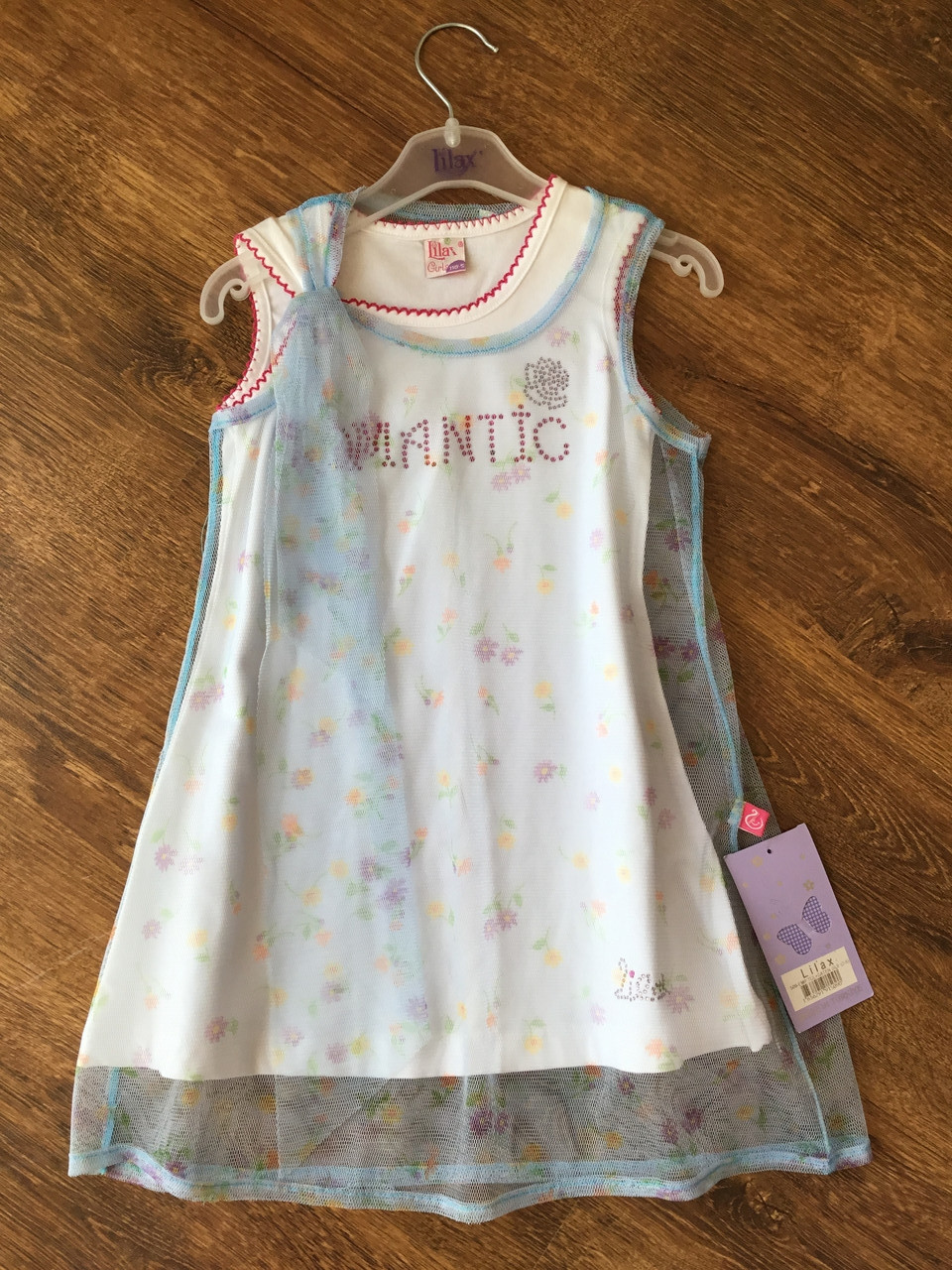 Легкое платье для девочки с отдельной нижней маечкой
