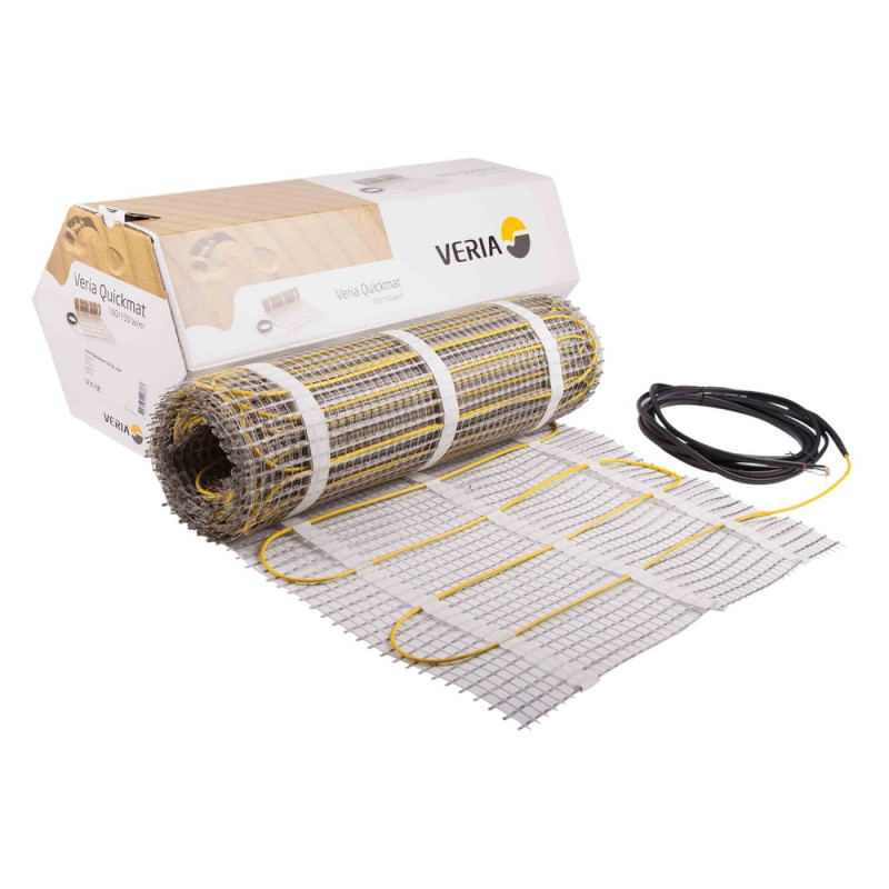 Теплый пол Veria Quickmat 150 0,5 x 24м 1800вт 12м² двухжильный нагревательный мат под плитку
