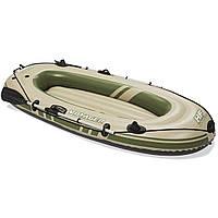 Двухместная надувная лодка Bestway 65051 Voyager 300, 243 см х 102 см, бежевая, с веслами