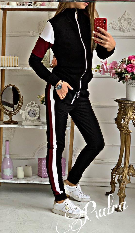 Спортивный костюм черного цвета женский весенний 42 44 46 48 размеры Новинка 2020 есть много цветов
