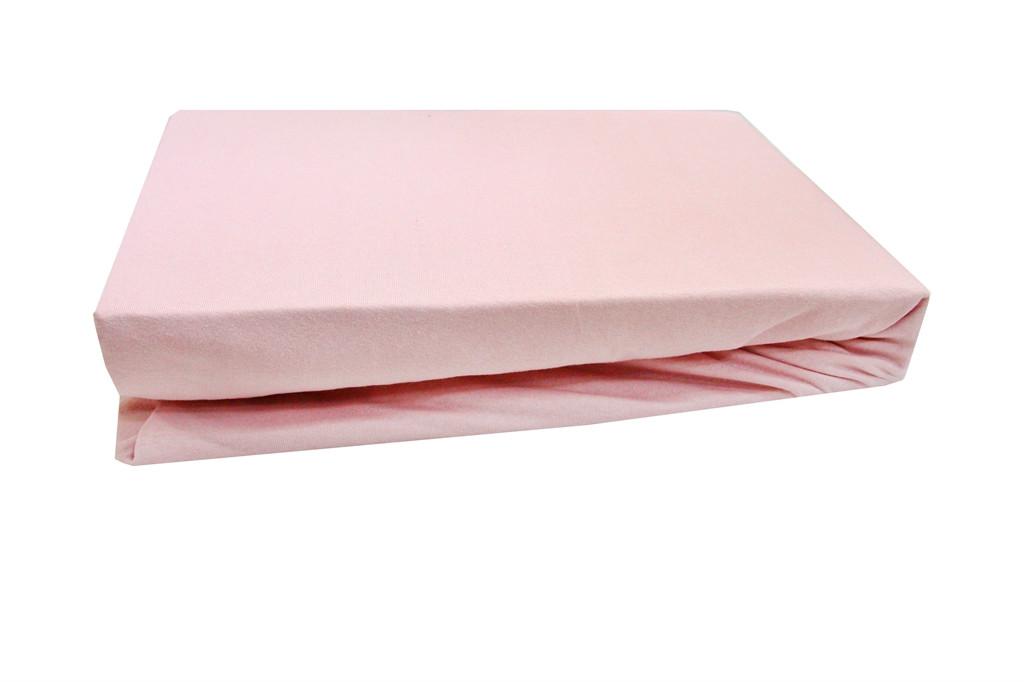 Простынь на резинке трикотаж 160х200+25 LIGHTHOUSE Тёмно-розовая