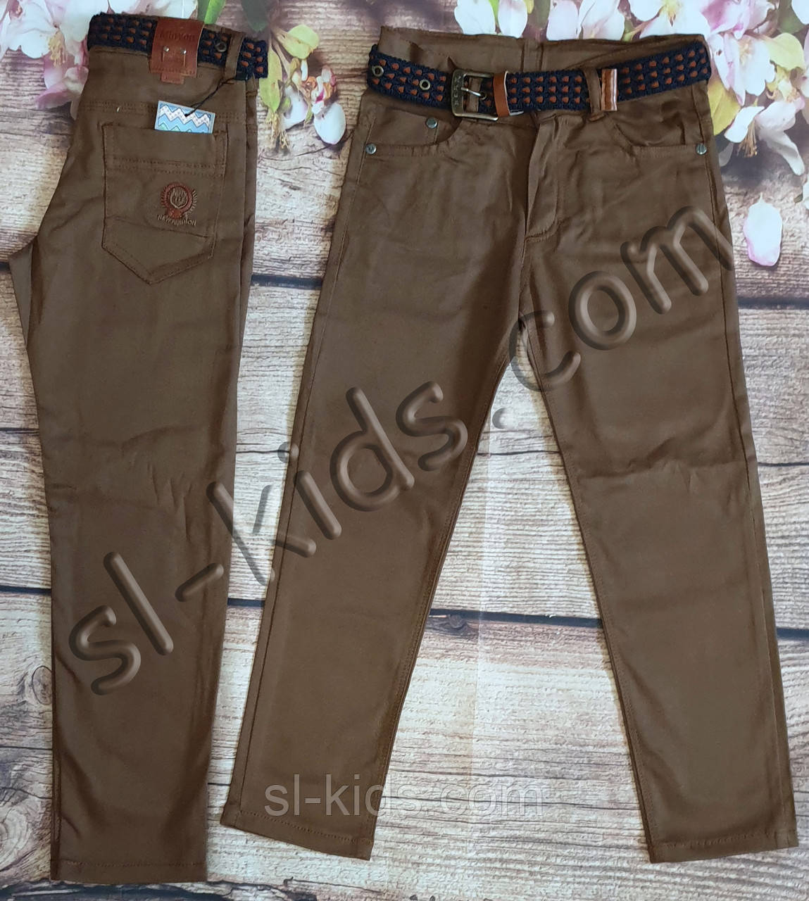 Яскраві штани,джинси для хлопчика 8-12 років(коричневі) розд пр. Туреччина