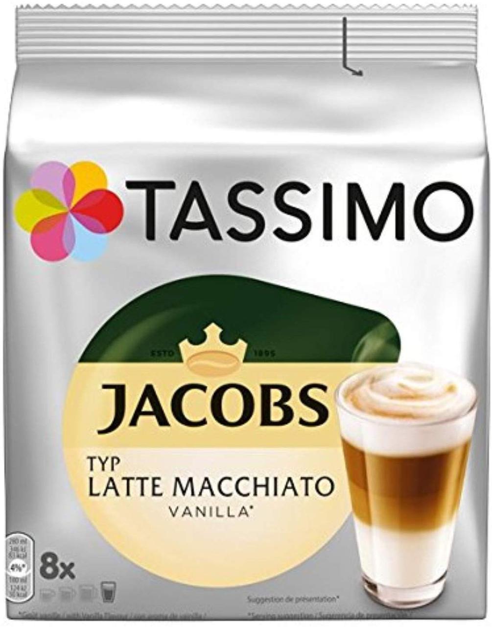 Кофе в капсулах Tassimo Jacobs Latte Macchiato Vanilla 16 капсул (8 порц.) Германия (Тассимо), 268г