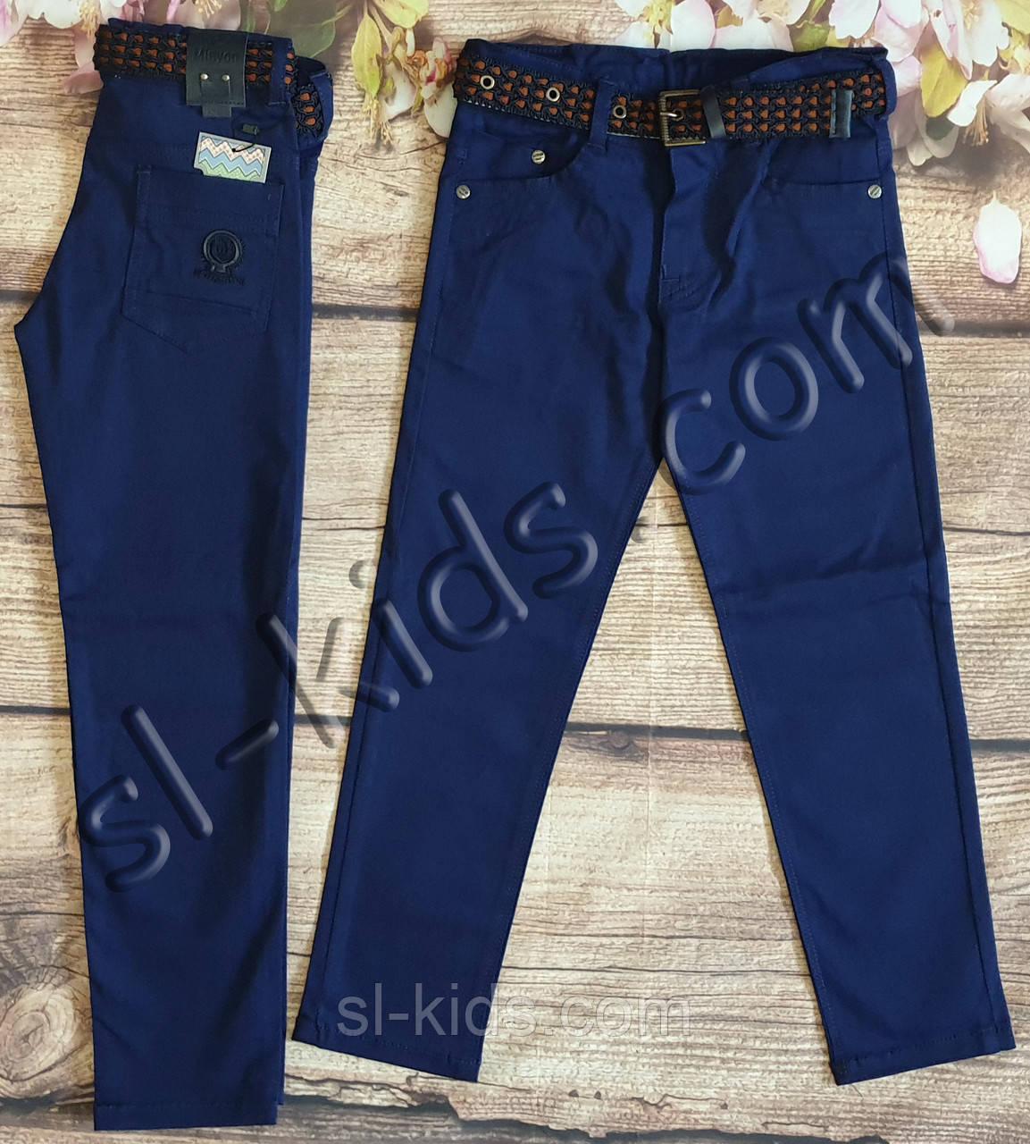 Яркие штаны,джинсы для мальчика 8-12 лет(синие) розн пр.Турция