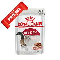 Акция 8+4! Влажный корм для кошек Royal Canin Instinctive Sauce 85 г х 12 шт