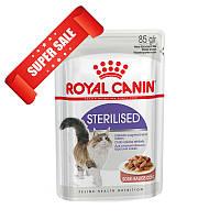 Акция 8+4! Влажный корм для кошек Royal Canin Sterilised Sauce 85 г х 12 шт