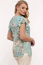 Воздушная летняя женская блузка plus size, 52-58 размер, фото 3
