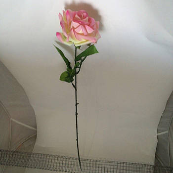 Роза одинак на ніжці, 68 см (30 шт/ уп.) тільки упаковкою Штучні квіти оптом