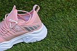 Дитячі кросівки Adidas Ultraboost Адідас персикові р31-35, копія, фото 7