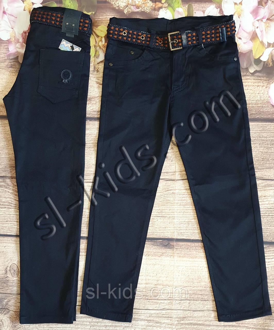 Яркие штаны,джинсы для мальчика 8-12 лет(темно синие) розн пр.Турция
