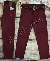 Яскраві штани, джинси для хлопчика 3-7 років(бордо) розд пр. Туреччина