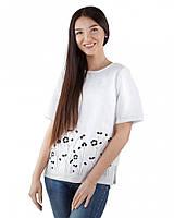 Летняя женская блуза льняная (размеры XS-2XL)