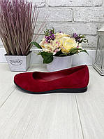 37 р. Туфли женские замшевые на низком ходу, из натуральной замши, натуральная замша, фото 1