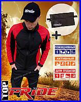 """Мужская куртка ветровка """"Intruder SoftShell Lite 'iForce"""",  демисезонная черно-красная + Подарок"""