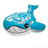 Детский надувной плотик для катания Intex 57527 «Синий Кит», 160 х 152 см