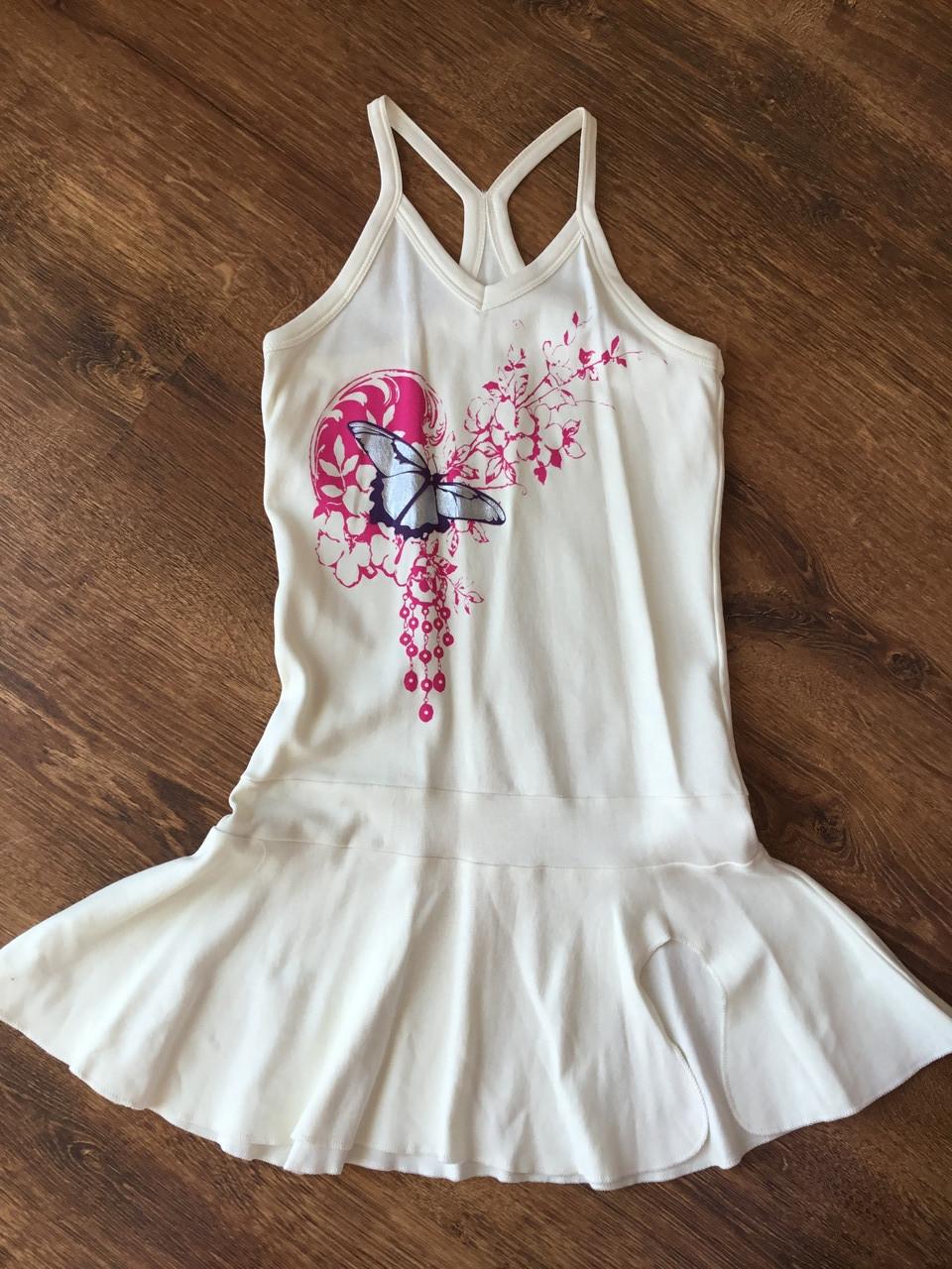 Летнее платье для девочки на бретелях