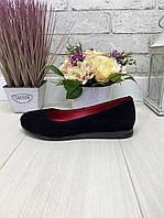 40 р. Туфли женские замшевые на низком ходу, из натуральной замши, натуральная замша, фото 1