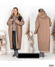 Пальто-кардиган размеры: 50-68, фото 2