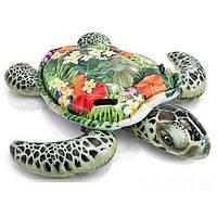 Детский надувной плотик для катания Intex 57555 «Черепаха», 191 х 107 см