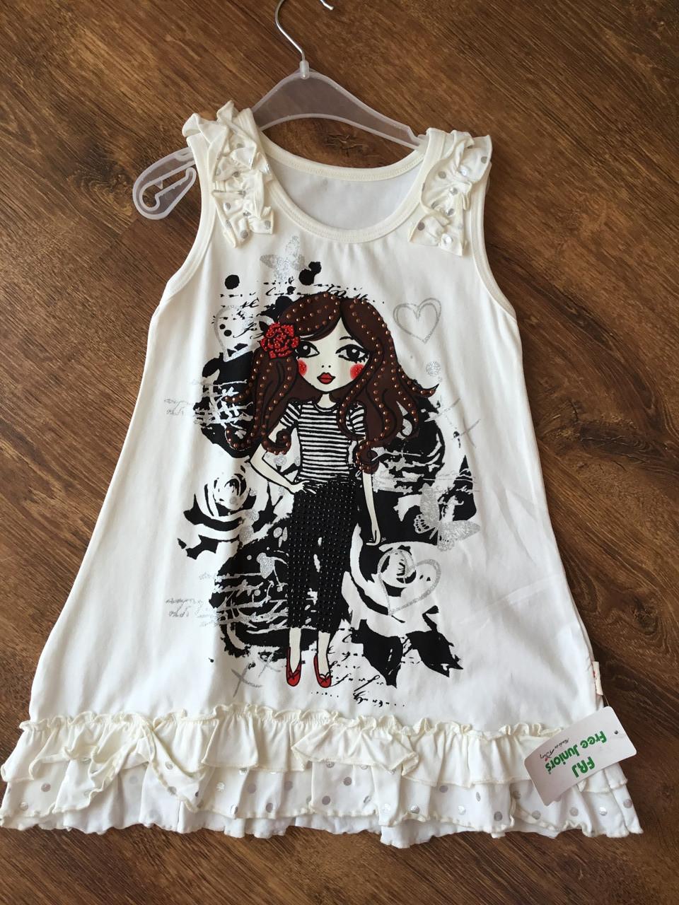Платье для девочки с красивым принтом