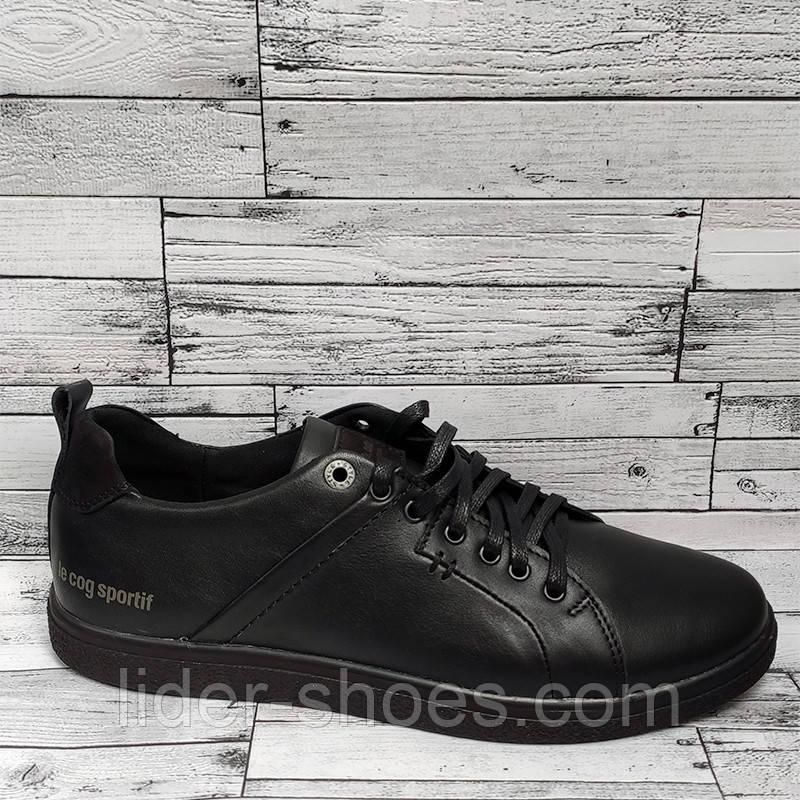 Кроссовки мужские на шнурках кожаные