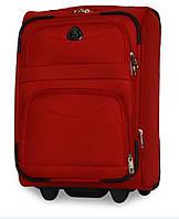 Тканевый чемодан Fly на 2 колеса средний красный, чемодан с колесами, ручная кладь