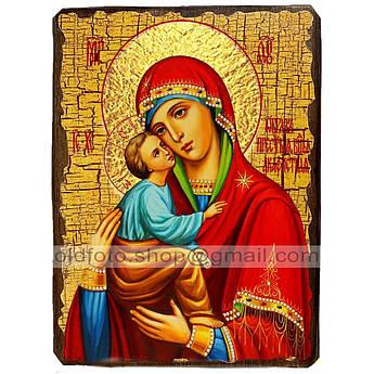 Акафистная икона Божией Матери ,икона на дереве 130х170 мм